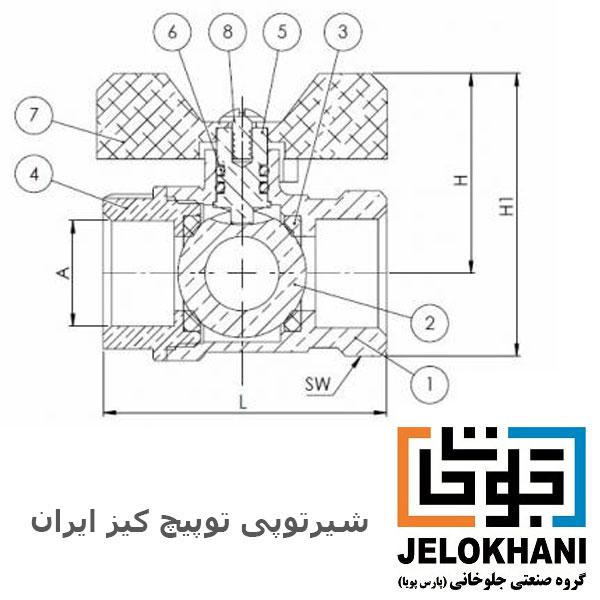 شیر توپی کلکتوری تو پیچ برنجی کیز ایران