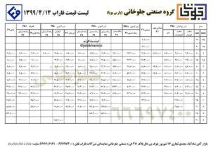 محصولات فاراب + لیست قیمت 99/4/14
